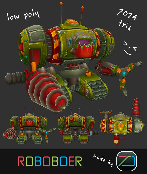 Roboboer  - 3DOcean Item for Sale