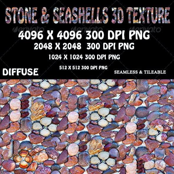 Stone And Seashells Wall 3D Texture
