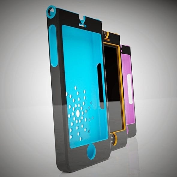 Stylish Iphone 5 case concept 3d printable