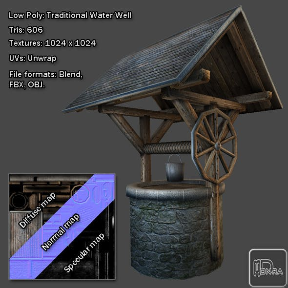 Low Poly: Traditional Water Well