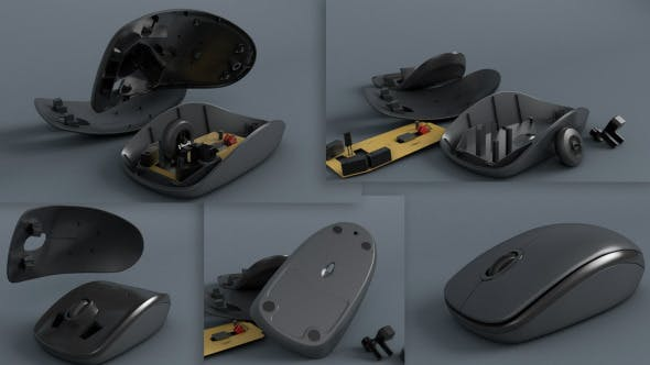 Optical Mouse with breaking animation - 3DOcean Item for Sale