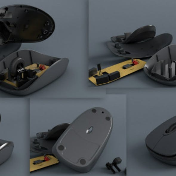 Optical Mouse with breaking animation