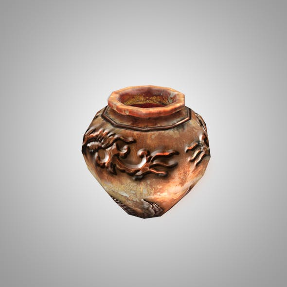 Low Poly Pottery - 3DOcean Item for Sale