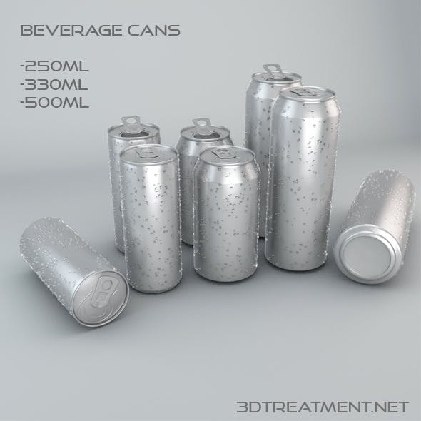 Beverage Cans In 3 Sizes