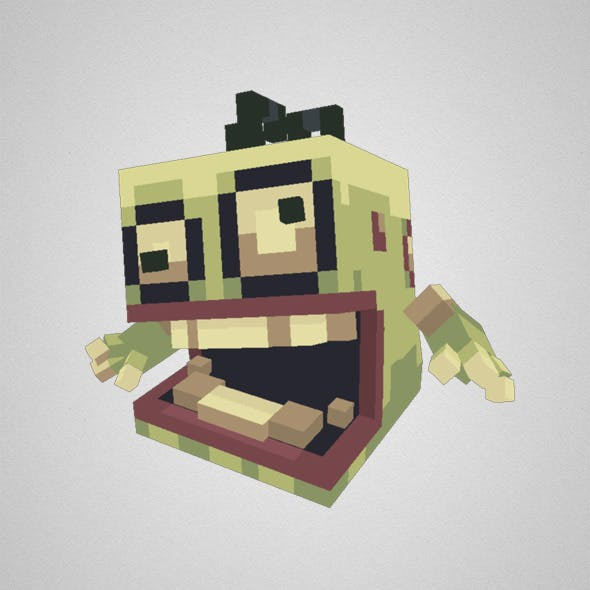 Low Poly Pixel Zombie Brian