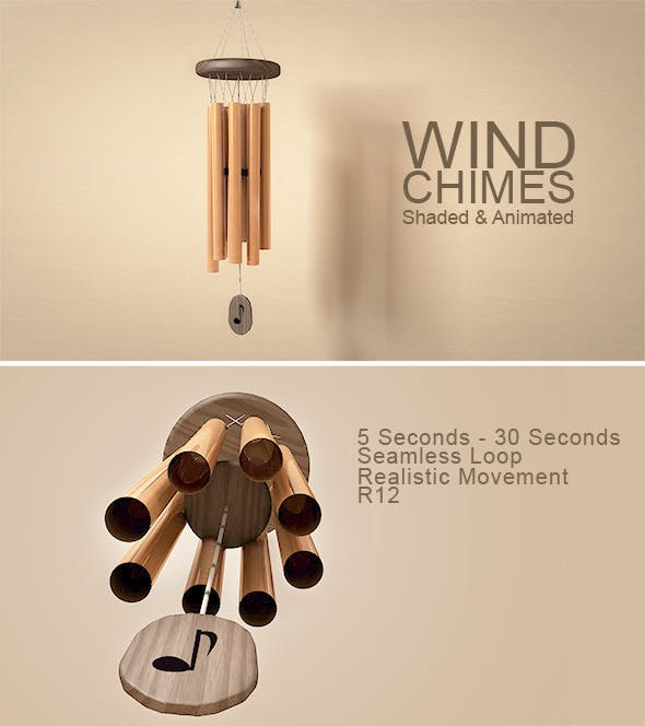 Animated Wind Chimes Model - 3DOcean Item for Sale