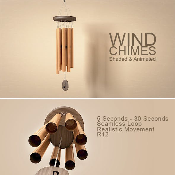 Animated Wind Chimes Model