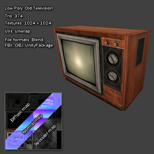 Low Poly: Old Television