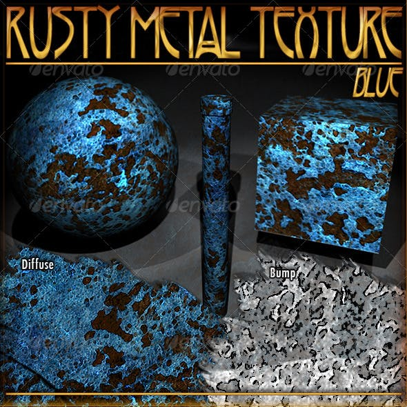 Rusty Metal Texture (Blue)
