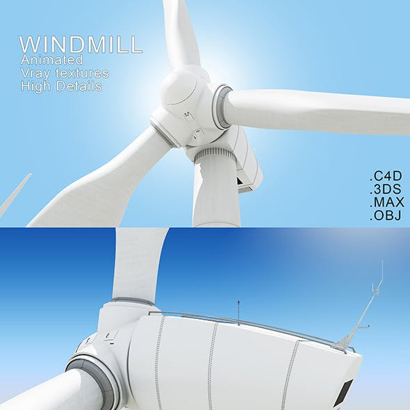 Animated Windmill Model