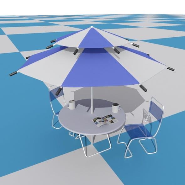 Parasol & Chair set - 3DOcean Item for Sale