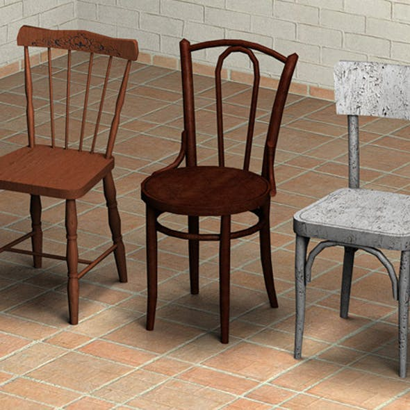 Chairs Pack 1 - Low Poly
