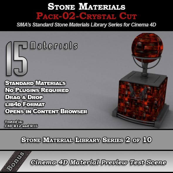Standard Stone Material Pack-02-Crystal_Cut [C4D]