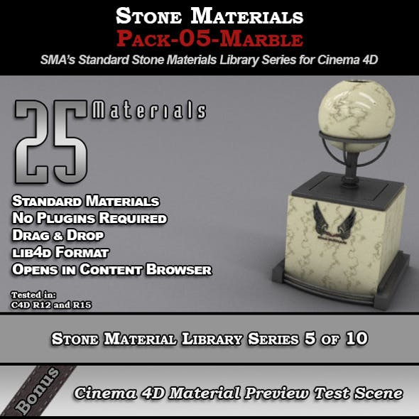 Standard Stone Material Pack-05-Marble for C4D