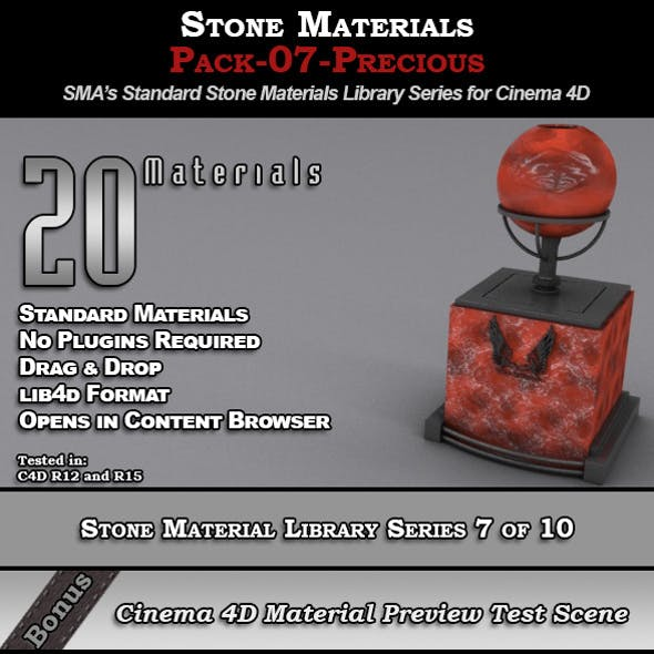 Standard Stone Material Pack-07-Precious for C4D