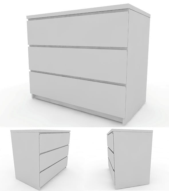 IKEA Malm - Chest of Drawers - 3DOcean Item for Sale