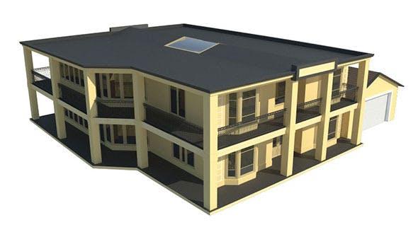 Generic Estate House - 3DOcean Item for Sale