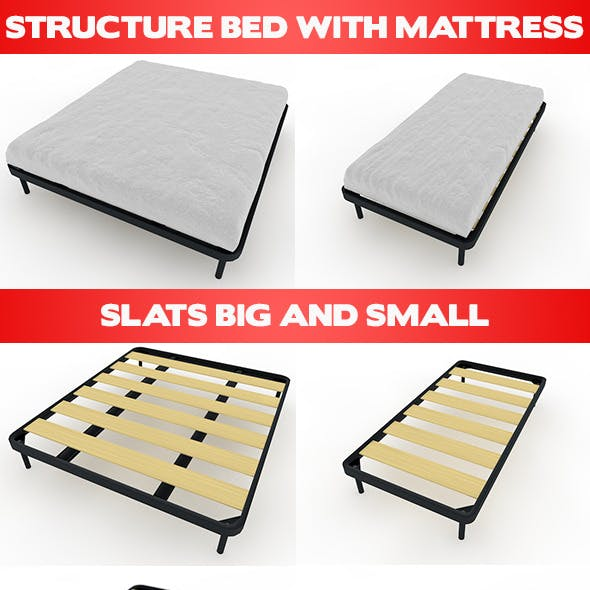 Bed Mattress and Slats