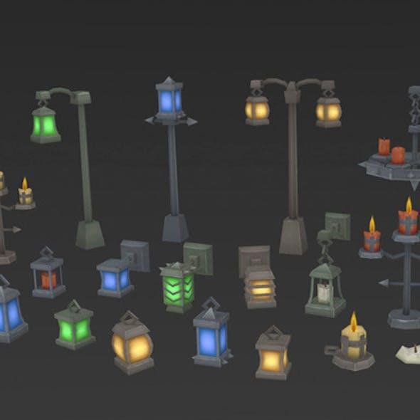 Low Poly Lantern Mega Pack