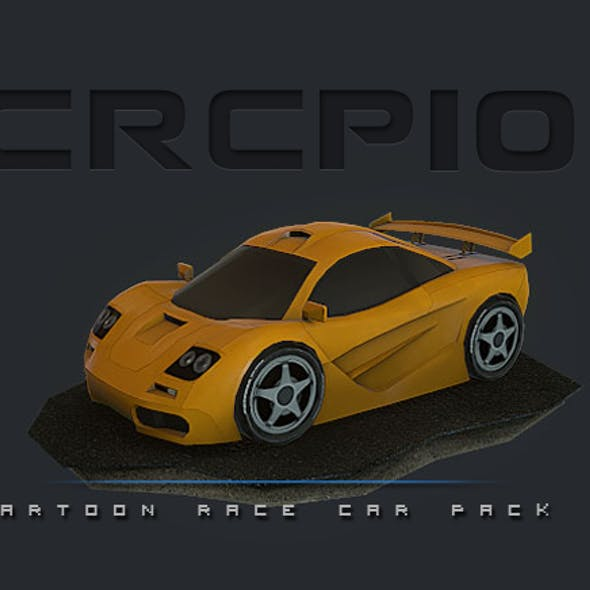 CRCP10 - Cartoon Race Car Pack 10