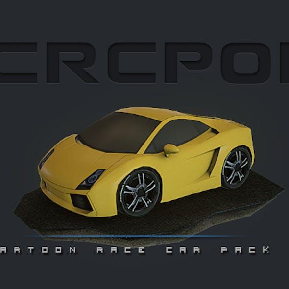 CRCP01 - Cartoon Race Car Pack 01