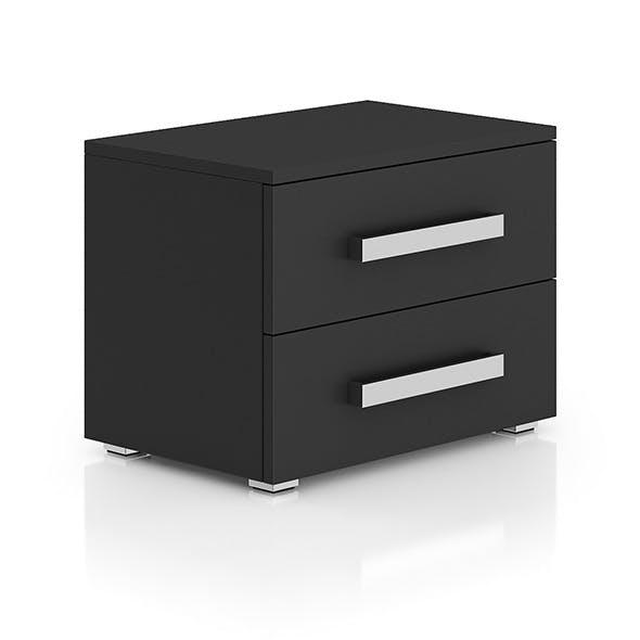 Dark-grey Bedside Cabinet - 3DOcean Item for Sale