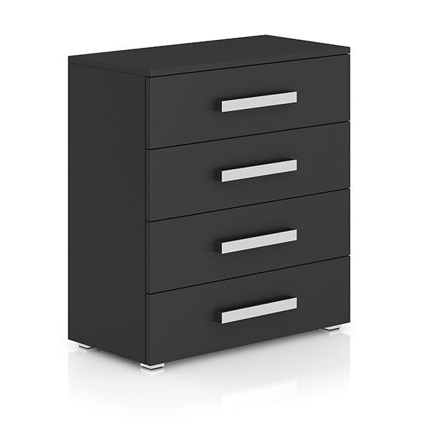 Dark-grey Cabinet with Drawers