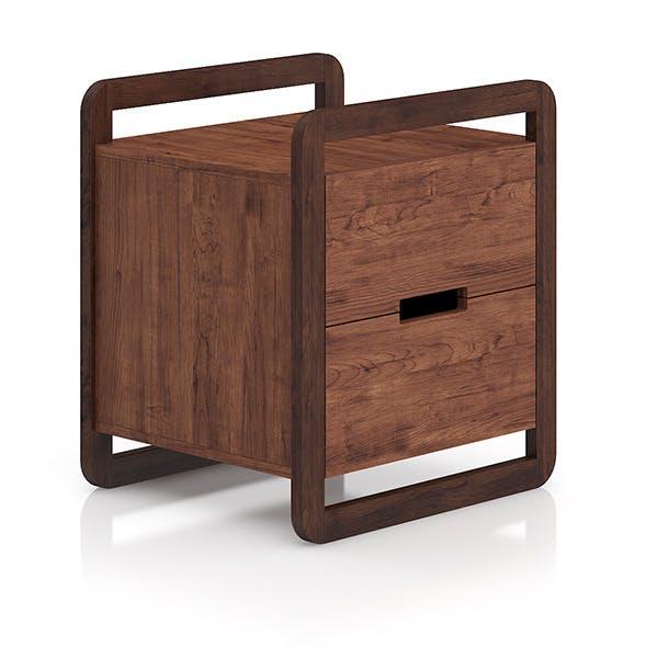 Modern Wooden Bedside Cabinet - 3DOcean Item for Sale