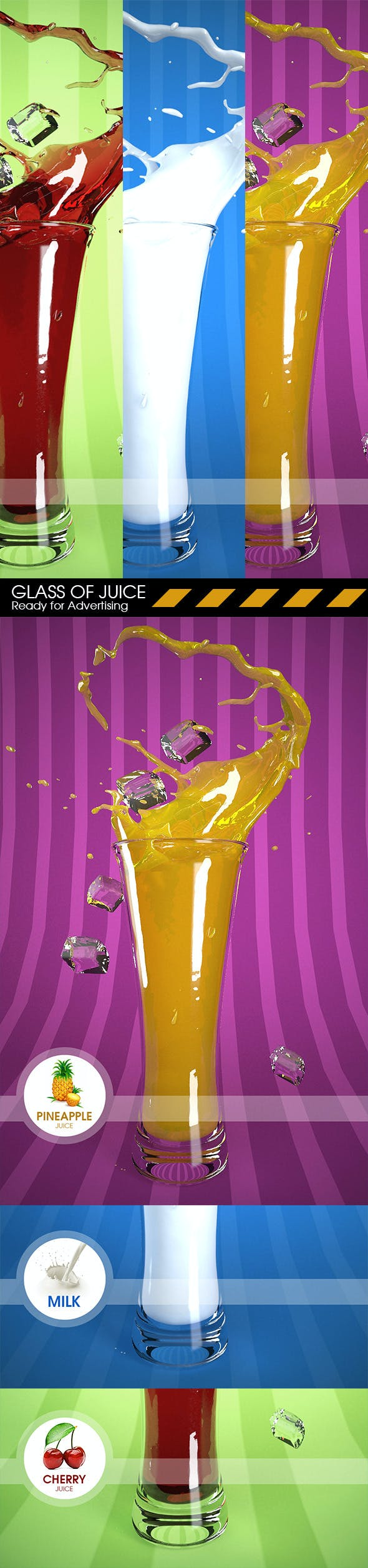 Splashing Juice - 3DOcean Item for Sale