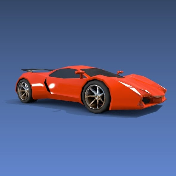 Lowpoly sports car concept
