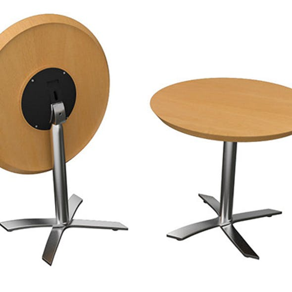 Flip-top Round Office Table