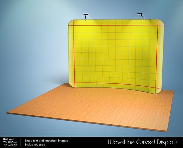 3D Waveline Curved Display - 3DOcean Item for Sale