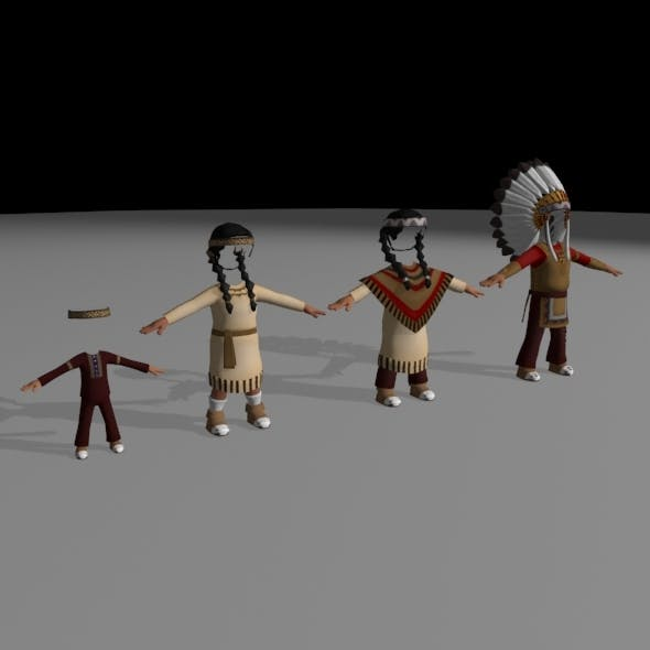 Native American Clothes - 3DOcean Item for Sale