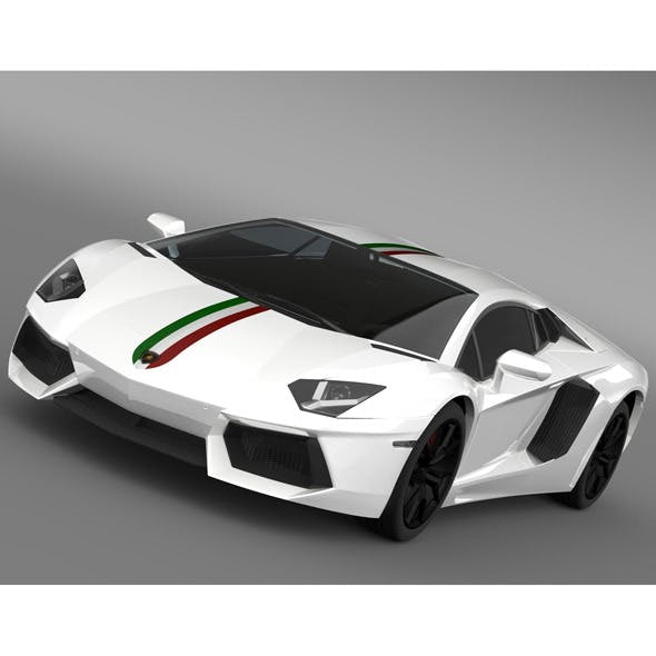 Lamborghini Aventador LP 700 4 Nazionale LB834 201 - 3DOcean Item for Sale