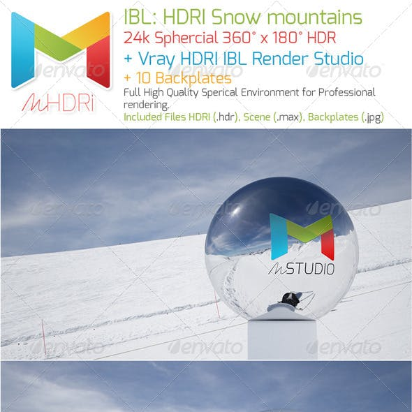 IBL - HDRI : Snow mounts