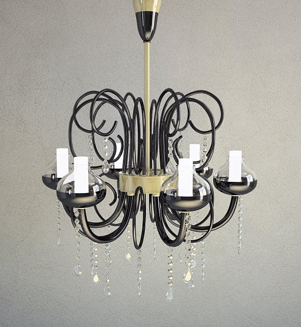 Chandelier Intrecci, Lamp - 3D Model - 3DOcean Item for Sale