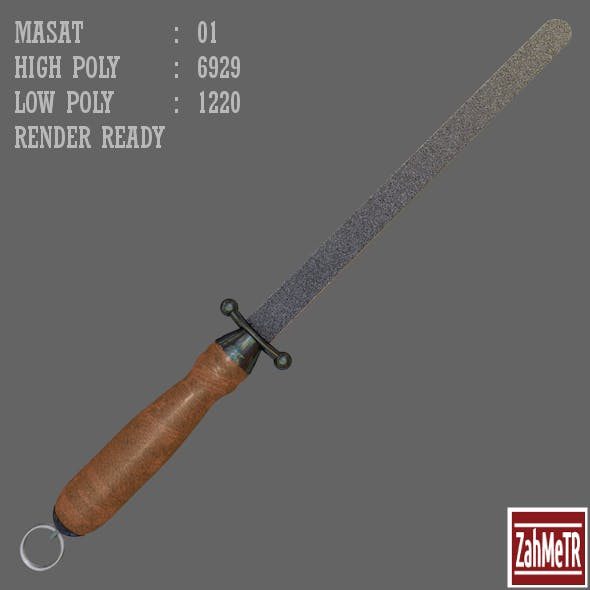Masat (Knife Sharpener) Low / High Poly - 3DOcean Item for Sale