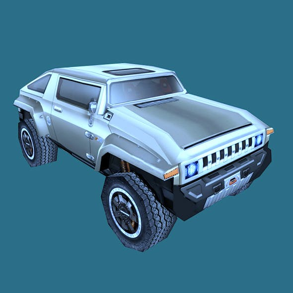 Low Poly Hummer HX Model