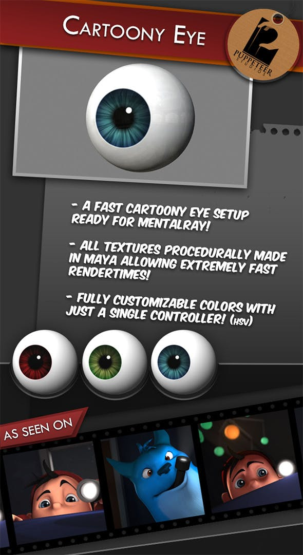 Cartoony Eye - 3DOcean Item for Sale