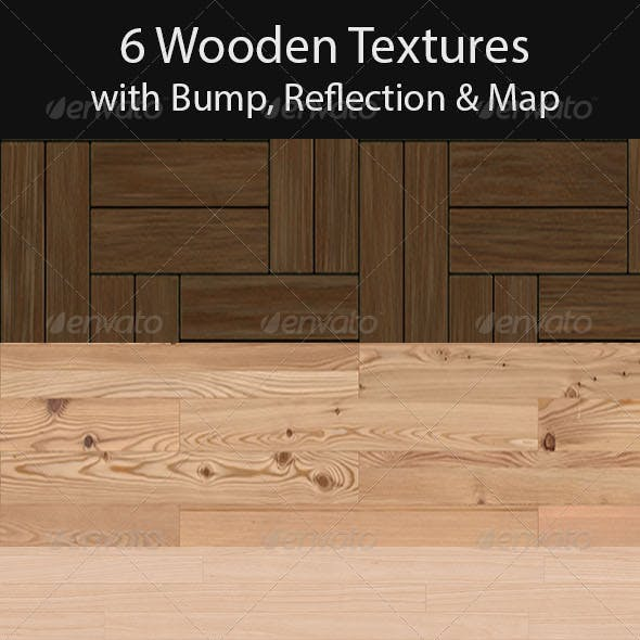 6 Wooden Floor Tileable Texture