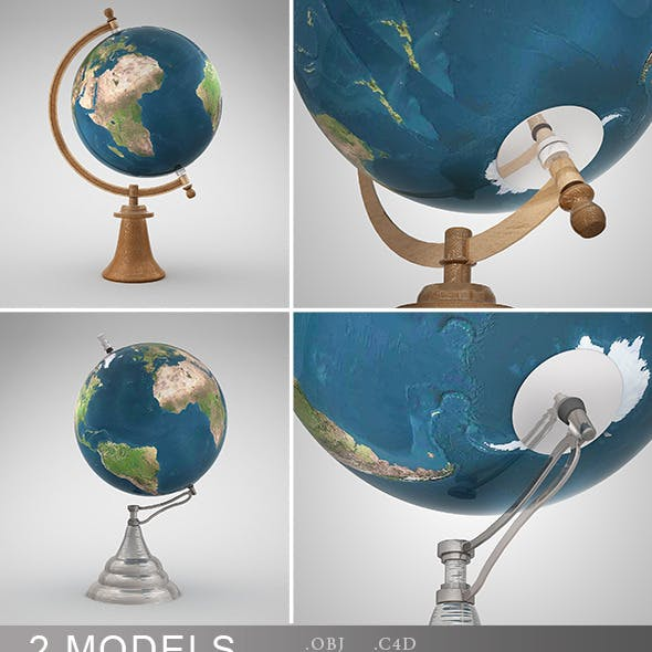 Desk Globes Vray