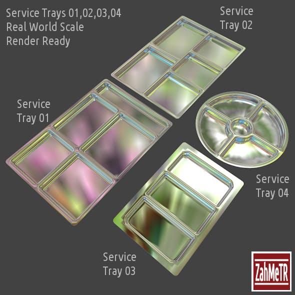Service Trays Set 4 Parts