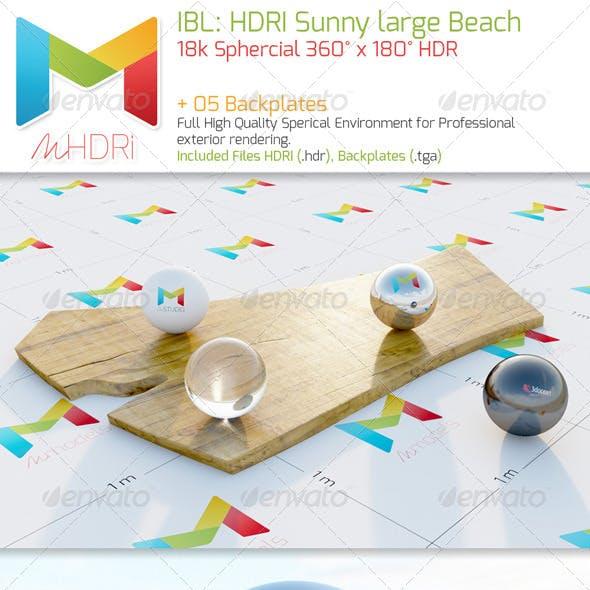IBL: HDRI Sunny large Beach