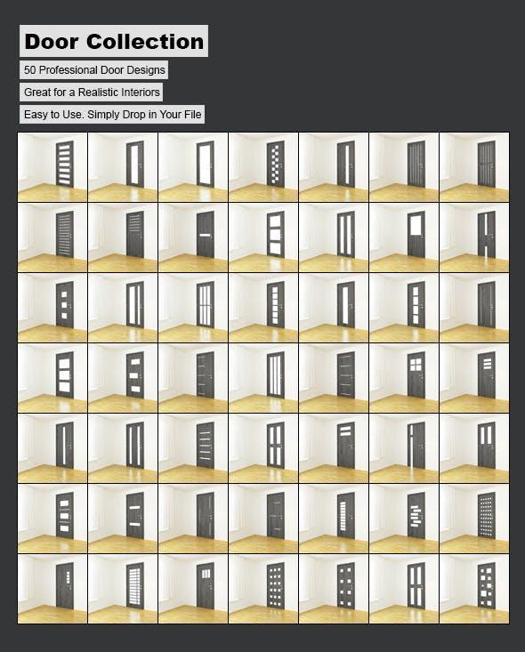 Door Collection - 3DOcean Item for Sale
