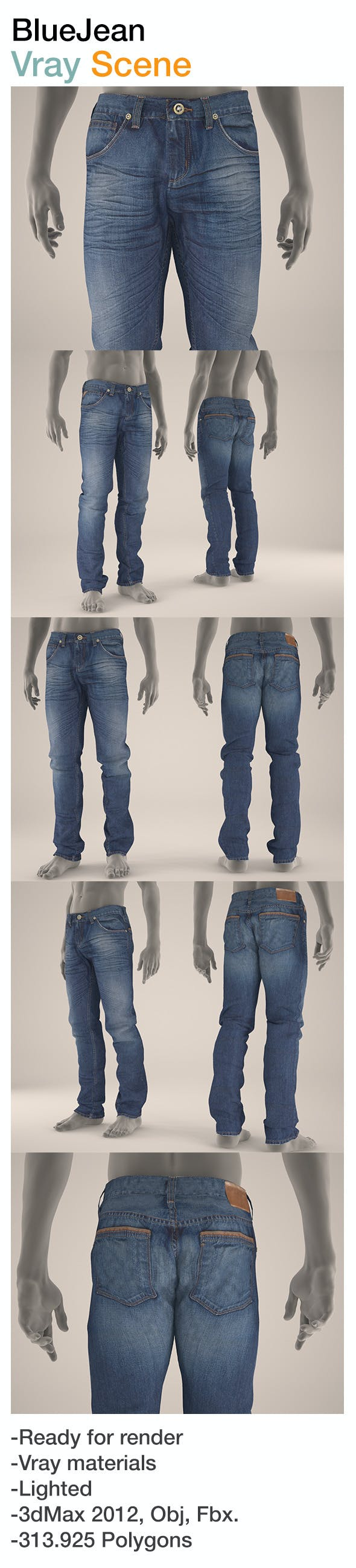 Blue Jean - 3DOcean Item for Sale